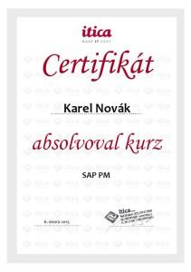 sap certifikát